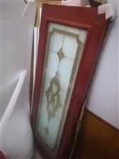 工艺实木玻璃门1980*800全新的看上的短信下看到回