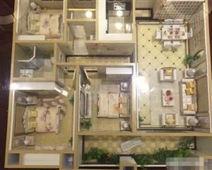 金沙水岸高层 户型漂亮3室 2厅 2卫78万元