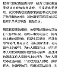 武汉市政法委原常务副书记周滨被双开