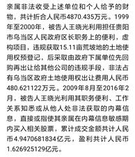 贵州省原副省长王晓光获刑20年,处罚金1.735亿元