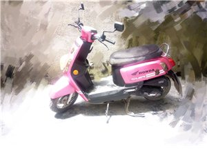 可愛小踏板摩托車轉讓 個人女士一手車,主要用於上下班,現在因為買了汽車,所以騎得時間少了,轉讓給有緣...