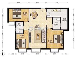 北城时代3室2厅2卫66万元