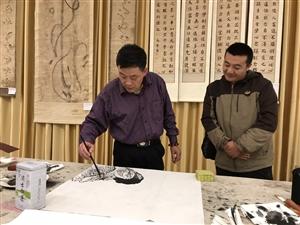 画家刘松林赠送张家川在线网站画作