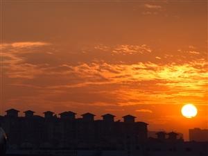 日落后的火烧云