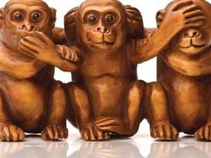 不说、不听、不看?集一身者乃佛,分之则猴子。