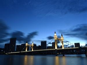 珠海白石桥暮色