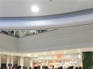 """这是荆门广播电视艺术合唱团今晚在银泰城的""""快闪""""彩排。作为荆门的首个""""快闪"""",正式演出将在七一前夕的"""