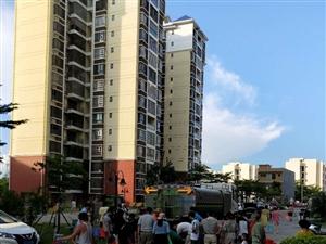 嘉博路水管爆裂廉租房和先锋小区居民靠水车送水
