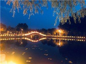 桦西湖的夜色美景