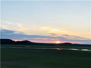 夕阳余晖向阳湖之…问号?