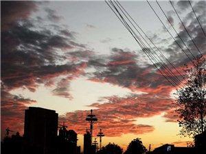 盛源彩票傍晚的天空美不?