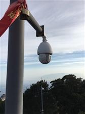 华山南峰峰顶的大华球机摄像头……