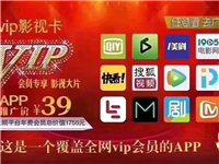 手機VIP影視卡 12大平臺 電影電視衛視欄目 一年隨便看 批發5元一張 100張起批  零售30元...