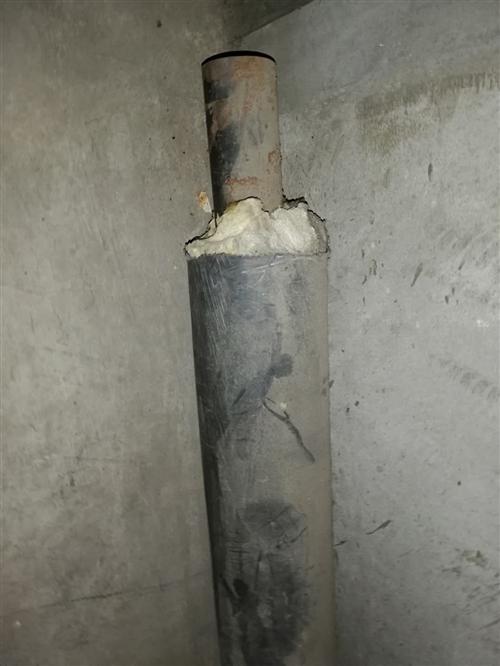 接暖气入户的管子3米(无缝钢管5.5Cm,外面黑胶保温套12cm)