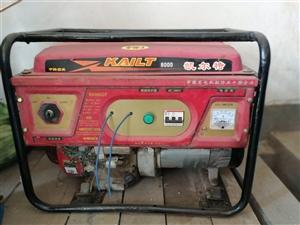 自用8干瓦汽油发电机一台单相低价出售。