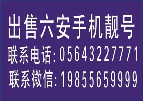 六安手机靓号批发零售联系电话:05643227771,联系微信:19855659999