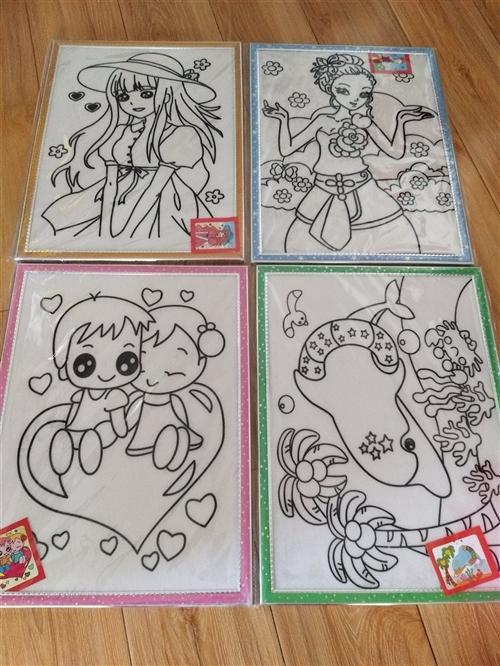 儿童画画涂色画板,五元一张。装菜的框子四元一个,垃圾桶盆子二元一个,物品都是新的,有需要的朋友可以电...