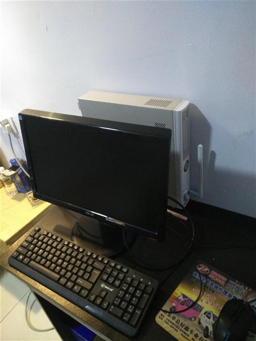 处理公司办公用NEC台式电脑4台,小机箱占地方少,19显示器