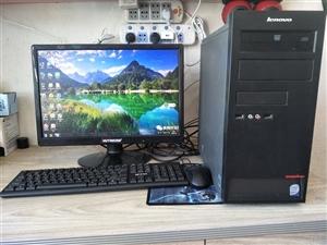 低价岀联想原装办公电脑一批,联想原装双核主机,质量很好,配置双核CPU、4G运行内存,显示器是19寸...