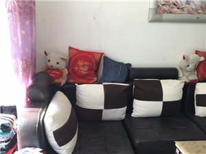 自己家用的沙发,带茶几带脚踏!便宜处理!