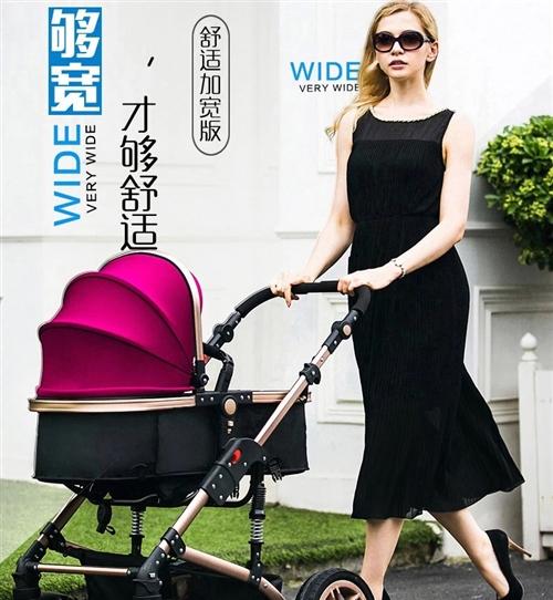 高景观婴儿推车一辆,八九成新,上门自提或送上门都可,另赠送学步车一辆