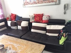 沙发?茶几便宜处理要的速度!沙发长3.7米,带脚踏!