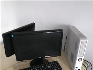 转让公司办公用NEC台式电脑4台,4G,320G,19显示器,小主机,方便摆放