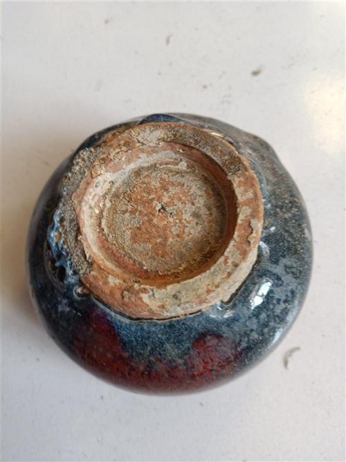 元代钧瓷小碗,直径11公司,高6公分。