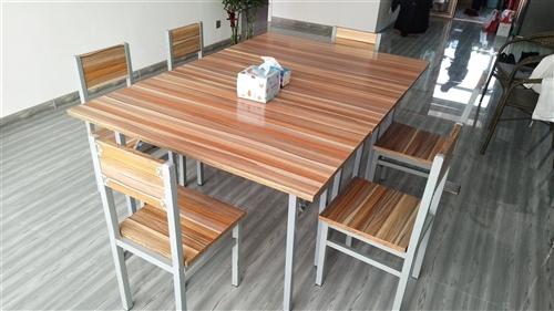 新买的三套折叠桌、加厚椅,拼的会议桌,现割肉低价转让! 一张桌子(尺寸60*120)两把椅子为一套...