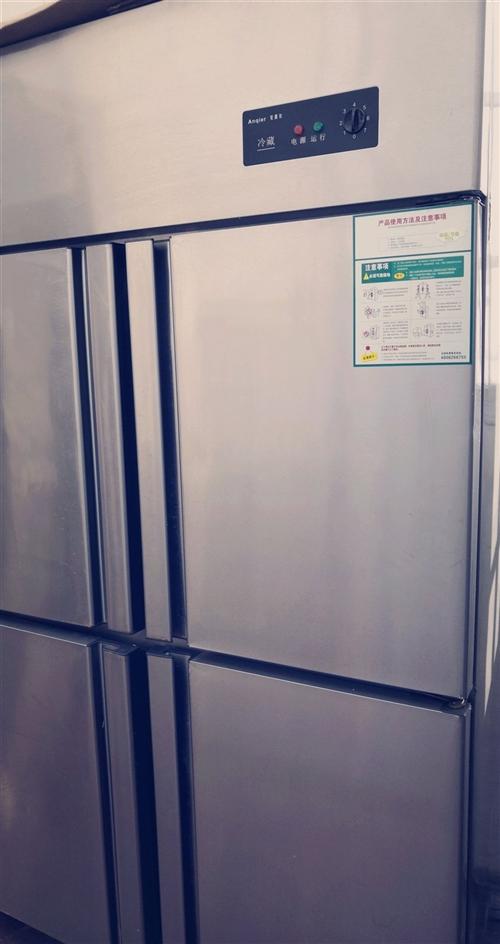 全新立式冰箱,两层四门,一边冷藏,一边冷冻,空间大,适合做生意,三千多购买,只用了一个月,全新处理,...