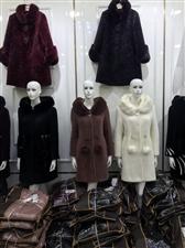 中年妈妈装羊剪绒中长款皮草外套 三小老大门门口等你!