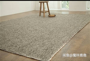 进口地毯纯色天然染色地毯地垫手工编织高档羊毛纯色… 颜色分类RD-01,地毯尺寸1600MM×230...