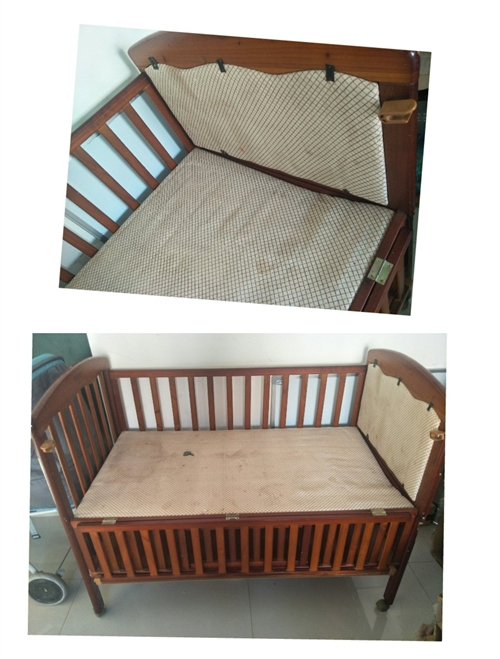 在东方内衣购入的檀木婴儿床,仅限有点瑕疵,799购入现50出手  自取