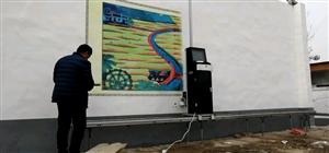 三喷头墙面喷绘打印机!户外围墙广告!室内背景墙彩绘!省时省力!效果明显!色彩鲜艳!