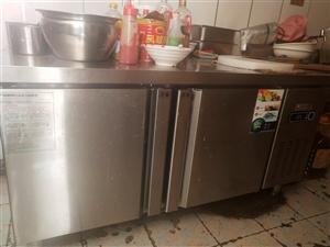 急处理双温冰柜带操作台,长1米5,宽80cm,才买了一个多月,一年质保,有意到店看货!