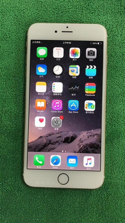 苹果6plus港版移动联通两网通16G,原壳原屏成色完美,原生8系统速度贼快,价格:1300元,微信...