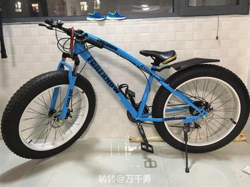 变速越野沙滩雪地山地自行车4.0大轮胎宽胎自行车.26英寸,21速,车子比视频图片要大。本人长期不在...