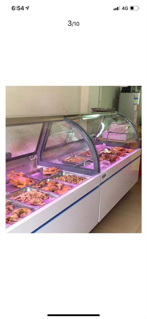 店面倒闭,转让熟食展示柜,用了一个月不到,,上面冷藏,下面冷冻,