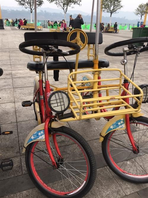 因無人經營,現轉讓10輛觀光自行車  8輛雙排,2輛單排。新買總價1萬7,現白菜價轉讓 兒童游樂車...