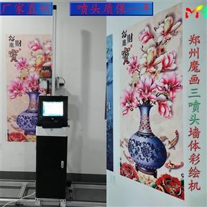 3d墙体彩绘机适用于各类材料的墙面,室内外墙,腻子粉墙,乳胶漆,贝壳粉,硅藻泥,宣纸,画布等等。