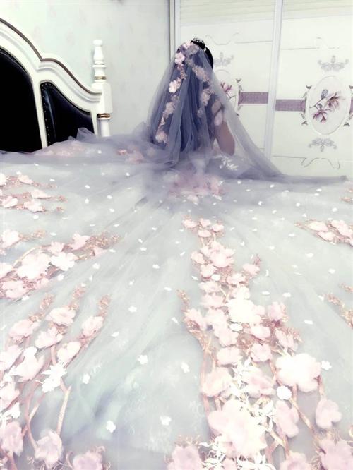 本人出售森系蔷薇公主梦幻婚纱一套(包括中国红敬酒礼服一套及其附件饰品,水晶鞋、小红鞋均有)。本人已经...