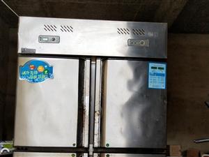 4门饭店用冰箱,上面冷?#35802;旅?#20919;藏,制冷效果很好