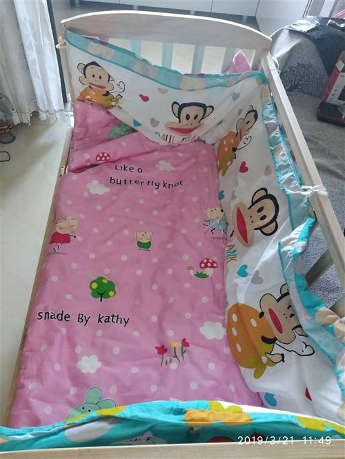 宝宝的婴儿床,九成新