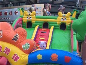 因无时间经营     现将60平九成新小孩玩具蹦蹦床低价转让   联系电话18296675898  ...