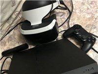 17年购买索尼PS4,由于太忙玩了没几次,搭配有原装PlayStationPS4虚拟现实头戴式3D眼...