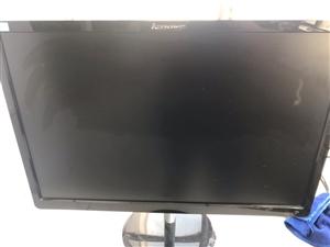 联想显示器屏幕 21.5寸屏幕,联想原装机的屏幕,按键为虚拟触控,不是实体按键的,屏幕两个竖亮线,不...