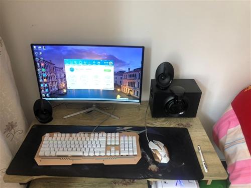 自己组装处理器i5,七彩虹1050显卡,256固态,曲面显示器,8g内存