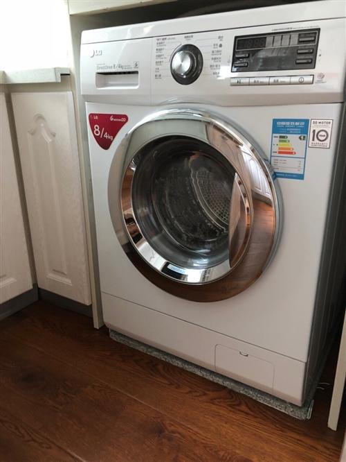 LG进口全自动滚筒洗衣机、智能操控自动烘干、熨烫、自动吸水放水、8公斤、