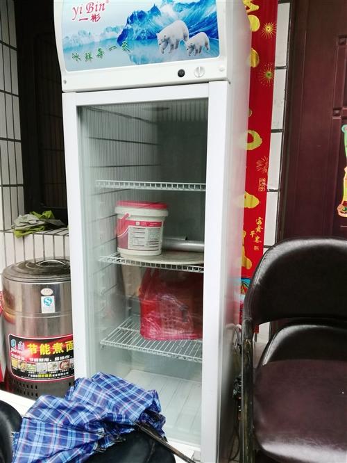 冷藏柜煮面炉蒸笼碗勺桌凳等大量工具出售可单
