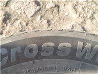 好車胎尋找有緣人,新車的時候拆下來的夏季輪胎,205/65/15。9成新,0補0修,找到一個補丁白送...
